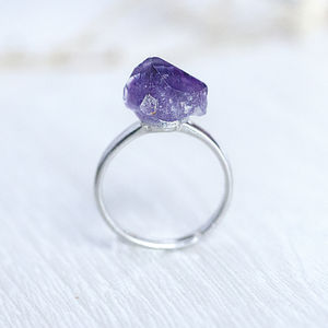 Amethyst Stone Ring - rings