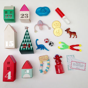 3D Village Advent Calendar With Treats