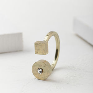 Square And Circle Statement Ring - jewellery gifts for friends