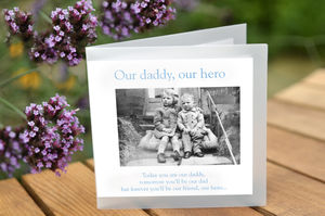 'Our Daddy, Our Hero' Greeting Card - birthday cards