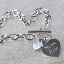 Personalised Solid Sterling Silver Heart Necklace