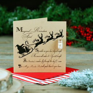 Magic Reindeer Food Childrens Christmas Card - cards