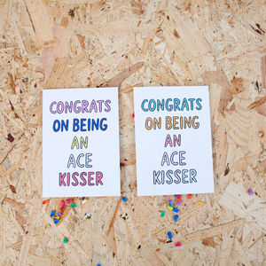 'Congrats On Being An Ace Kisser' Card - funny cards