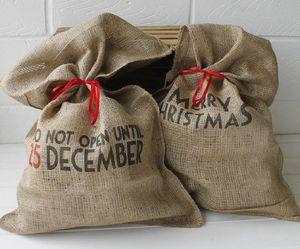Do Not Open Santa Sack - stockings & sacks