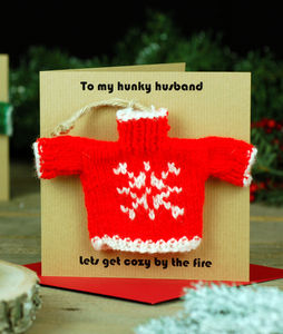 Christmas Jumper Decoration Christmas Card - baubles & hanging decorations