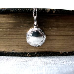 Vintage Style Round Locket Necklace - women's jewellery