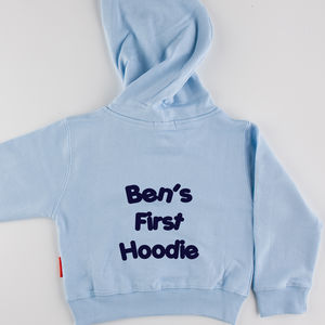 Personalised Baby's First Hoodie - clothing