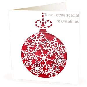 Christmas Card Laser Cut Bauble - cards & wrap