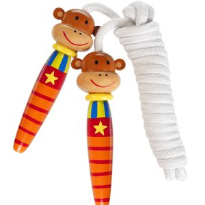 Cheeky Monkey Wooden Skipping Rope