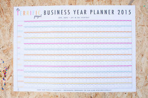2015 Terrific Project Business Wall Planner