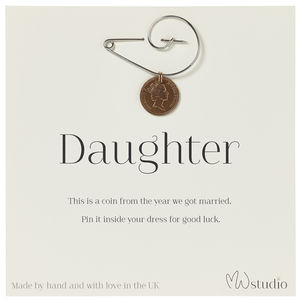 'Daughter' Wedding Pin