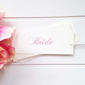 Bespoke Name Tag - place cards