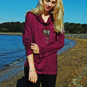 Burgundy Blouse - women's fashion