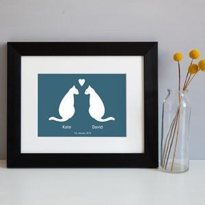 Personalised Love Cats Print - posters & prints