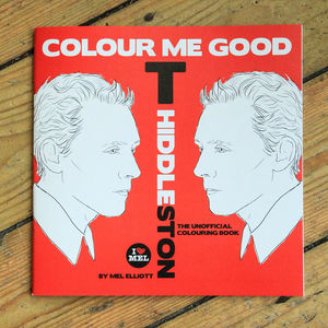 Tom Hiddleston Colouring Book By Colour Me Good
