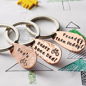 Personalised Copper Keyring 36 Design Stamps - gifts from younger children