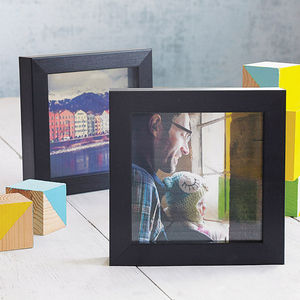 Personalised Transparent Photo With Frame - gifts for fathers