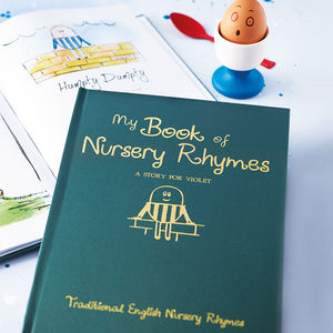 Personalised Gift Boxed Book Of Nursery Rhymes - keepsakes