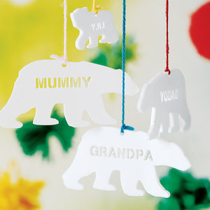 Personalised Polar Bear Christmas Decoration - stocking fillers
