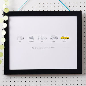 Personalised Carvolution Print - gifts under £50 for him