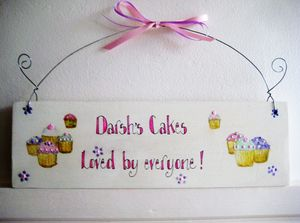 Personalised Cake Signs - hanging decorations
