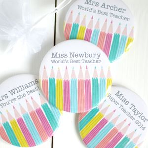 Personalised 'Best Teacher' Pocket Mirror Gift