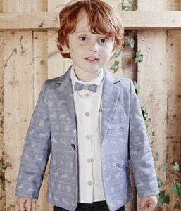 Fairisle Print Blazer - boys occasion wear