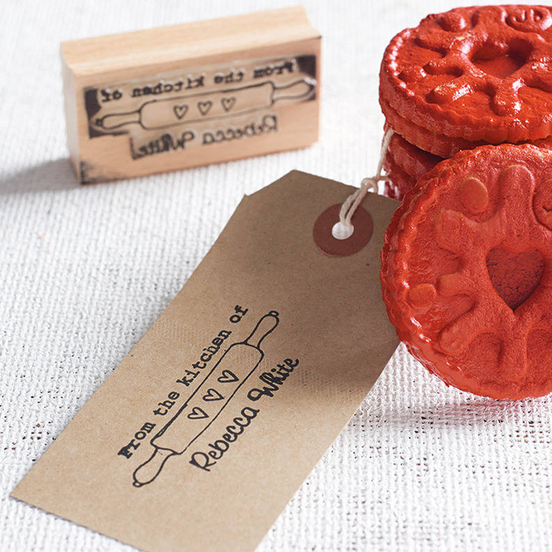 From The Kitchen Of Personalised Stamp By Pretty Rubber