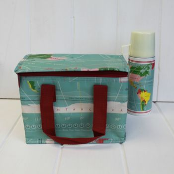 Insulated Map Lunch Bag
