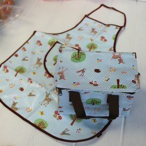 Insulated Woodland Animal Lunch Bag - camping