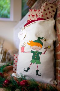Personalised Elf Santa Sack - stockings & sacks