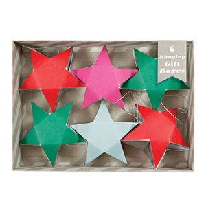 Set Of Star Gift Boxes