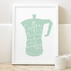 Coffee Kitchen Print - food & drink