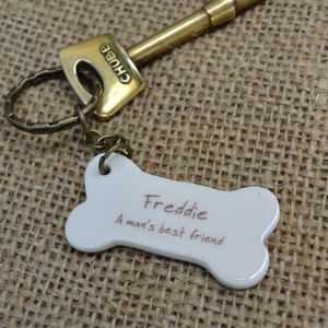 Personalised 'Man's Best Friend' Key Ring