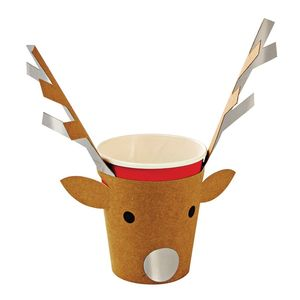 Be Jolly Reindeer Party Cups
