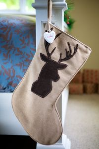 Personalised Country Luxury Reindeer Stocking - stockings & sacks