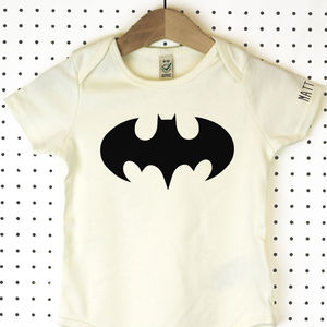 Batman Organic Cotton Babygrow Or Jumpsuit