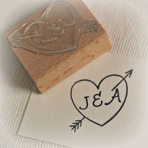 Cupid's Arrow Rubber Stamp - office & study