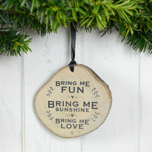 'Bring Me Fun' Wooden Plaque