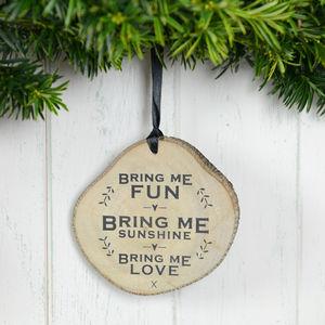 'Bring Me Fun' Wooden Plaque