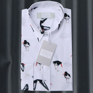 Long Sleeve Oystercatcher Print Shirt