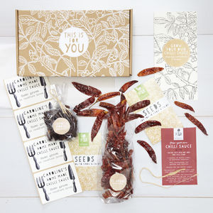 Grow Your Own Chilli Sauce Gift Kit - gifts for foodies
