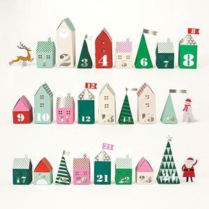 3D Christmas Advent Village