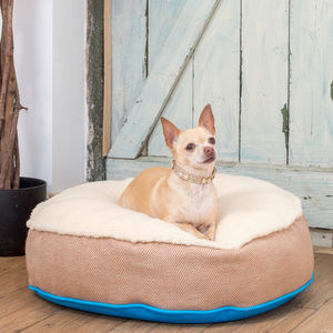 Cosy Top Round Soft Dog Bed - dogs