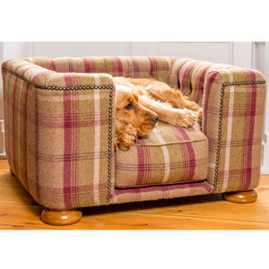 Full Tweed Tetford Square Chesterfield Dog Bed - dog beds & houses