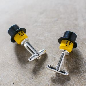 Mini Figure Top Hat Cufflinks - cufflinks