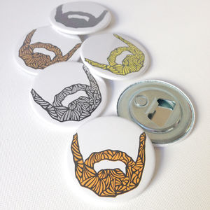 'Beard' Bottle Opener With Card Option