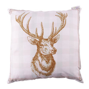 Christmas Winter Stag Cushion - cushions