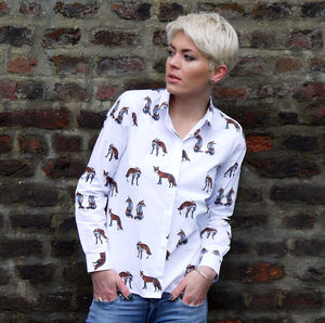 Long Sleeve Fox Print Shirt