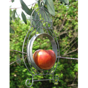 Hanging Apple Bird Feeder - bird feeders